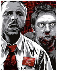 Shaun of the Dead print by Anthony Petrie