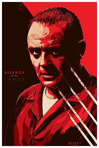 Silence of the Lambs poster art by Ken Taylor