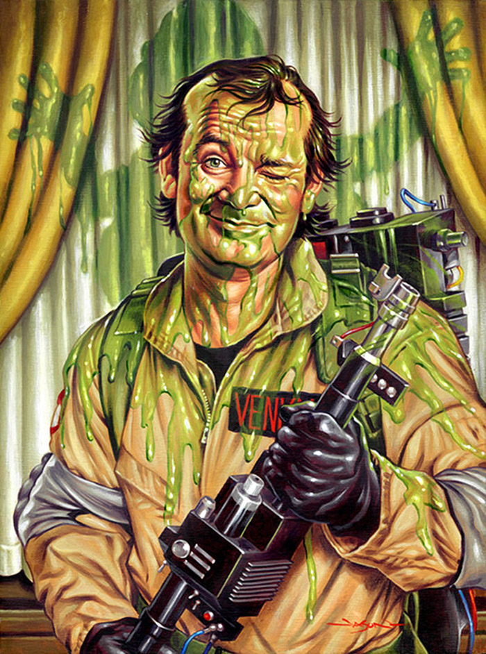 Slimed (Venkman from Ghostbusters) artwork by Jason Edmiston