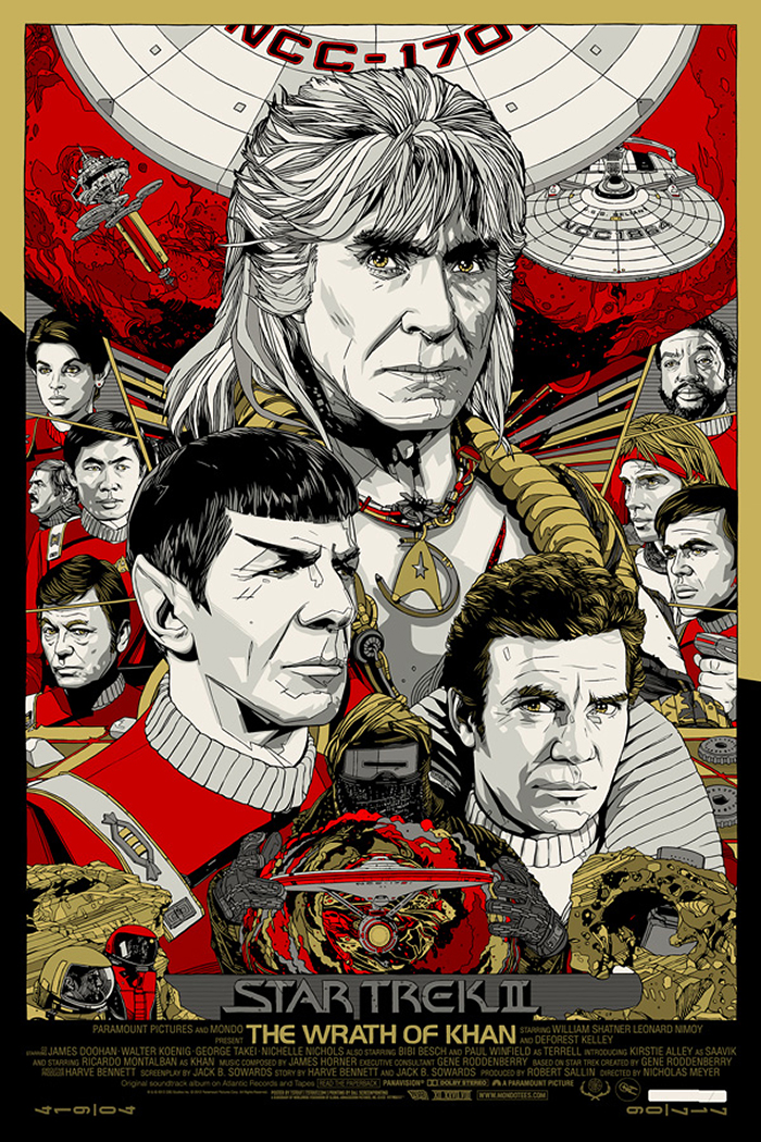 Star Trek 2: The Wrath of Khan poster art by Tyler Stout