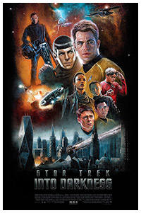 Star Trek Into Darkness poster art by Paul Shipper