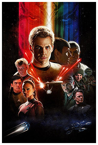 Star Trek (2009) poster art by Paul Shipper