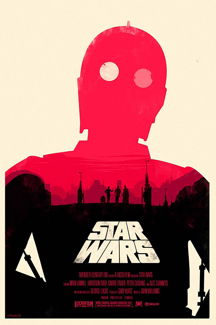 Star Wars Episode 4: A New Hope poster artwork by Olly Moss
