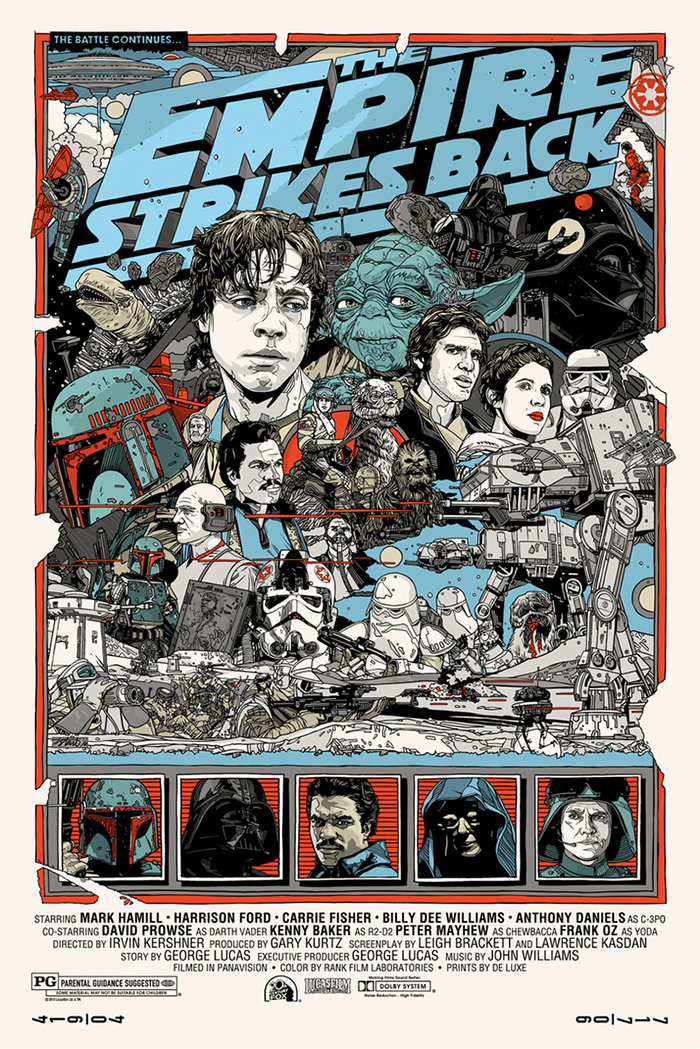 Star Wars The Empire Strikes Back poster by Tyler Stout