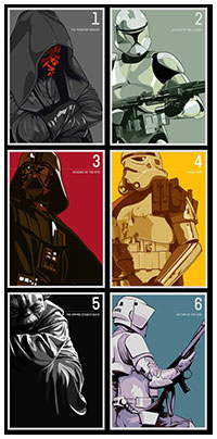 Star Wars poster set by Matt Edwards
