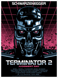 Terminator 2 poster art by James White