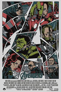 The Avengers (2012) poster by Anthony Petrie