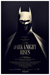 The Dark Knight Rises poster print by Olly Moss