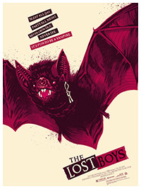The Lost Boys - Bat Version poster print by Phantom City Creative