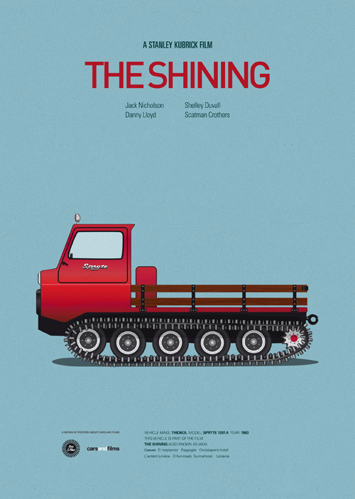 The Shining poster art by Jesús Prudencio