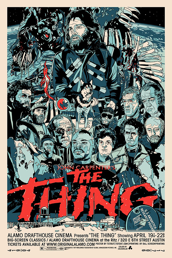 The thing poster by Tyler Stout