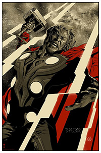 Thor poster art by Martin Ansin